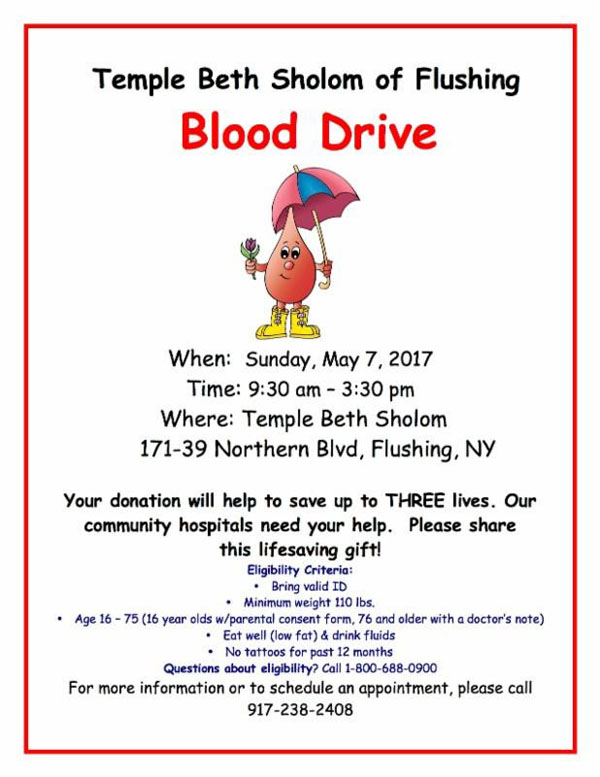 May 7th,2017 Blood Drive